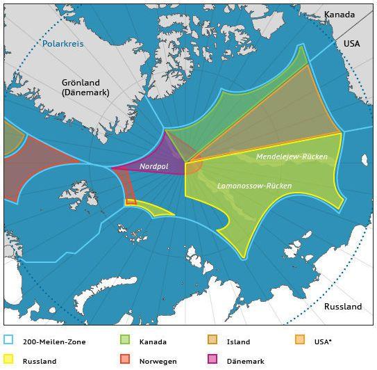 Ansprüche der Nordpol-Anrainerstaaten