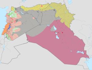 Islamischer Staat (grau) bei Wikipedia