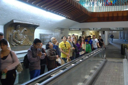 Pilgerabfertigung in Guadalupe