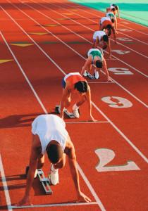 Leichtathletik Startposition