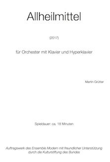 Allheilmittel für Orchester mit Klavier und Hyperklavier