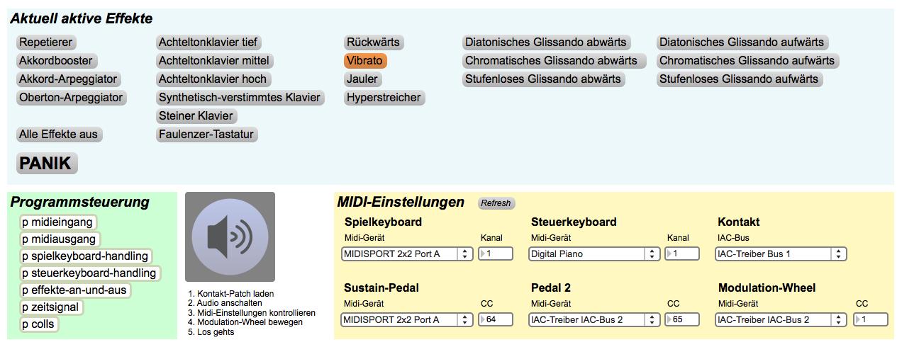 Hyperklavier-Interface in Max/MSP